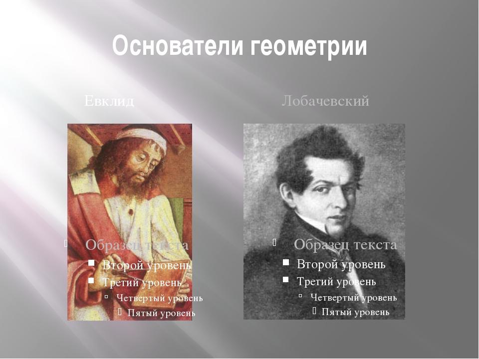 Основатели геометрии Евклид Лобачевский