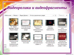 Видеоролики и видеофрагменты