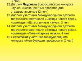Диплом 3 степени Всероссийского творческого конкурса «Талантоха», «Детские ис
