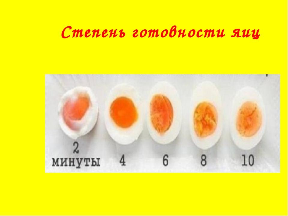 Степень готовности яиц