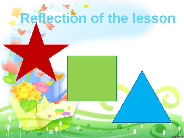 Reflection of the lesson