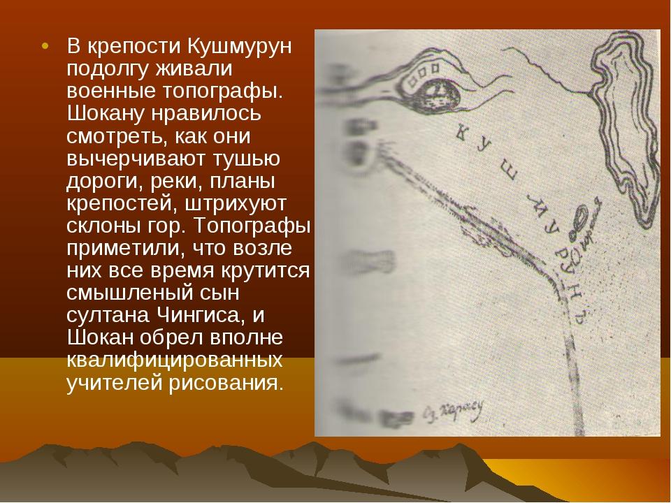 В крепости Кушмурун подолгу живали военные топографы. Шокану нравилось смотре...