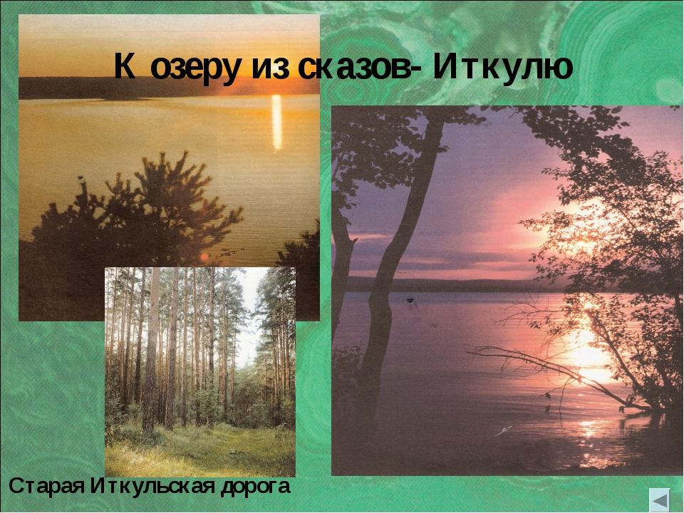 К озеру из сказов- Иткулю Старая Иткульская дорога