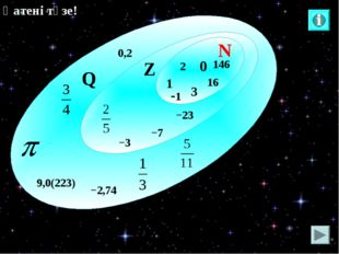 2 N Q Z 0 1 −23 −3 146 16 −7 0,2 −2,74 9,0(223) 3 -1 Қатені түзе!