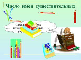 Число имён существительных Русский язык Сколько предметов может обозначать им