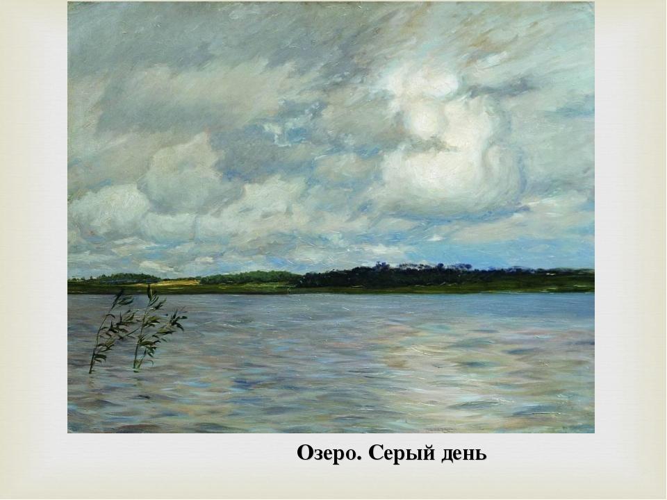 Озеро. Серый день