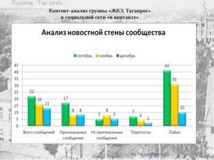 Контент-анализ группы «ЖКХ Таганрог» в социальной сети «в контакте» http://v