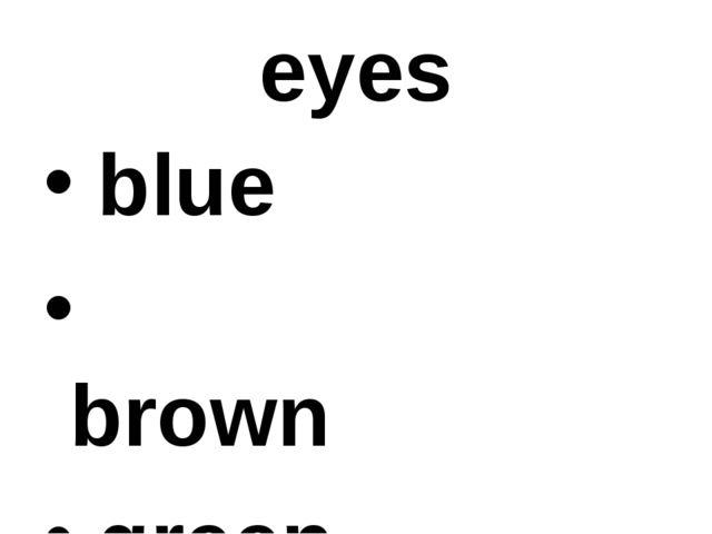 eyes blue brown green