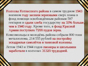 Колхозы Котласского района в самом трудном 1943 военном году засеяли зерновым