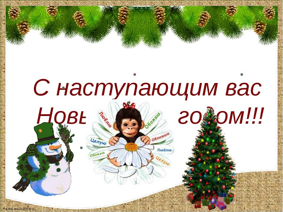 С наступающим вас Новым 2016 годом!!! FokinaLida.75@mail.ru