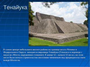 Тенайука В самом центре небольшого жилого района на границе штата Мехико и Фе