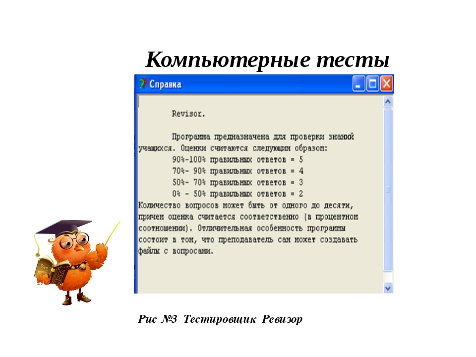 Компьютерные тесты Рис №3 Тестировщик Ревизор