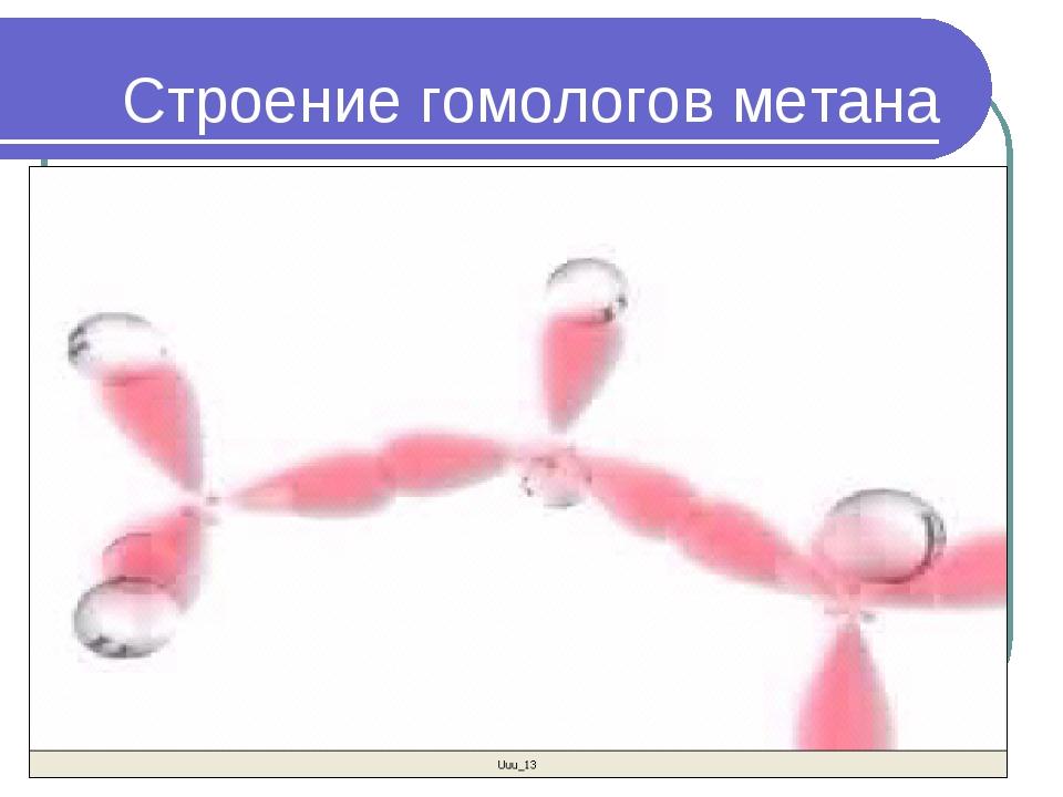 Строение гомологов метана