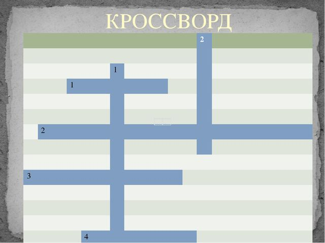 КРОССВОРД 2 1 1 2 3 4