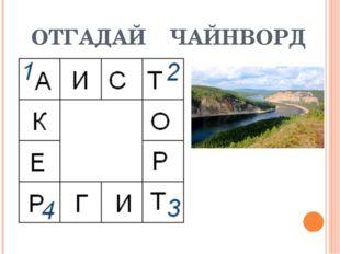 ОТГАДАЙ ЧАЙНВОРД