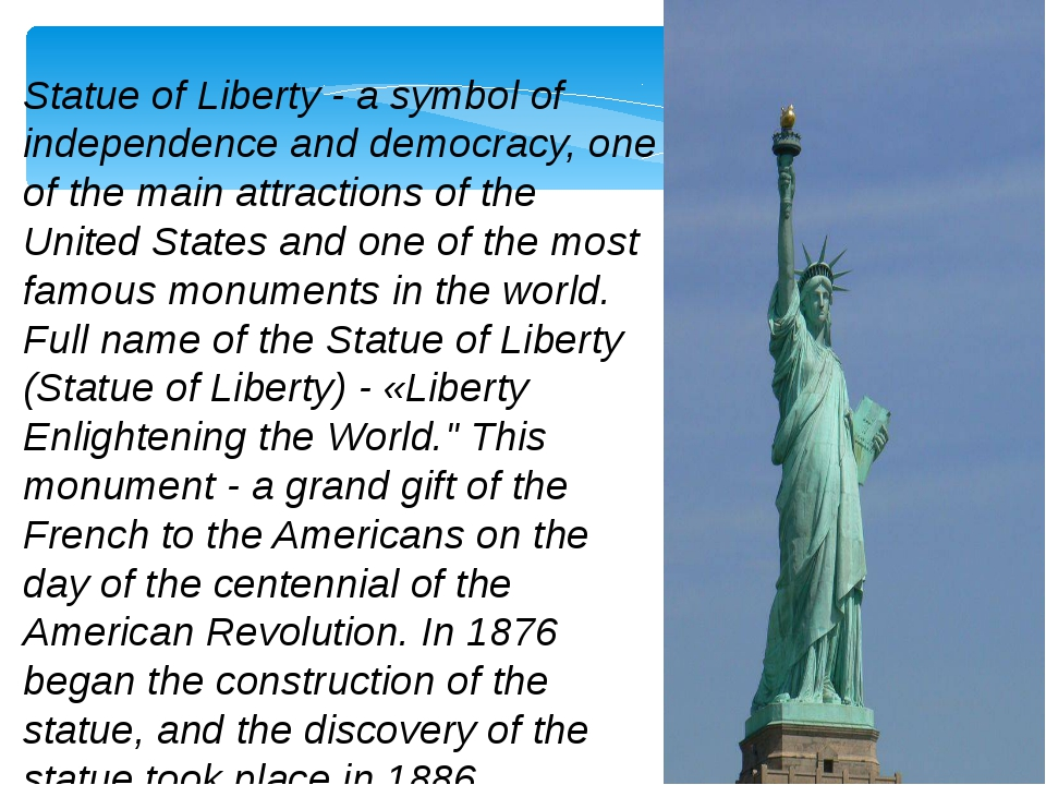 an analysis of the statue of liberty in the united states and the symbolic cultural value of the sta Liberty essay examples an analysis of the statue of liberty in the united states and the symbolic cultural value of the statue.