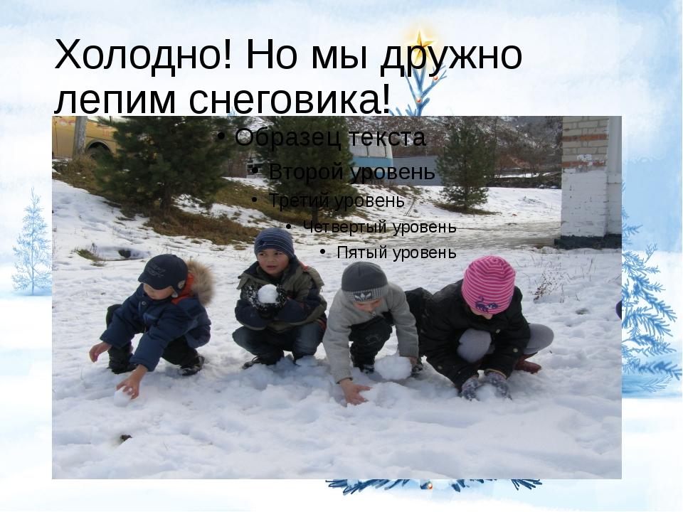 Холодно! Но мы дружно лепим снеговика!