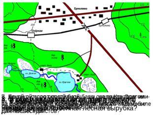 1. Определите в каком направлении от станции Озёрная находится посёлок Ермоли