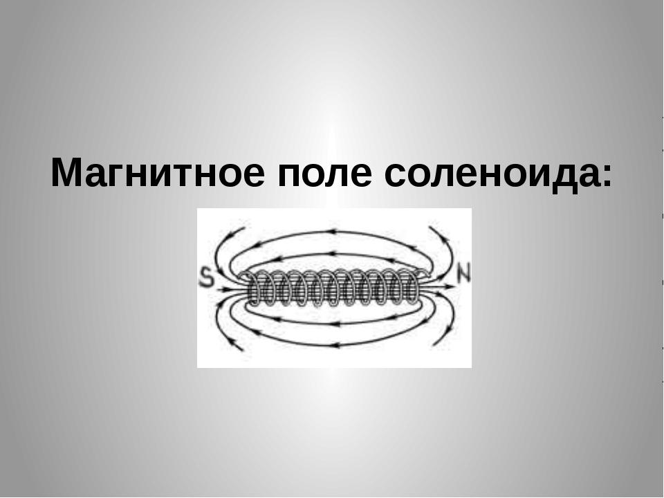Магнитное поле соленоида: