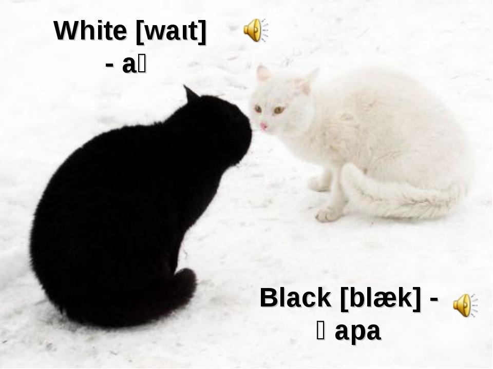 White [waιt] - ақ Black [blæk] - қара