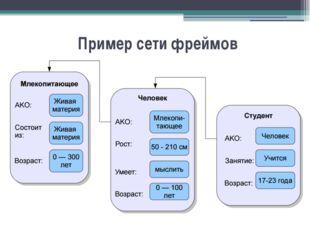 Пример сети фреймов