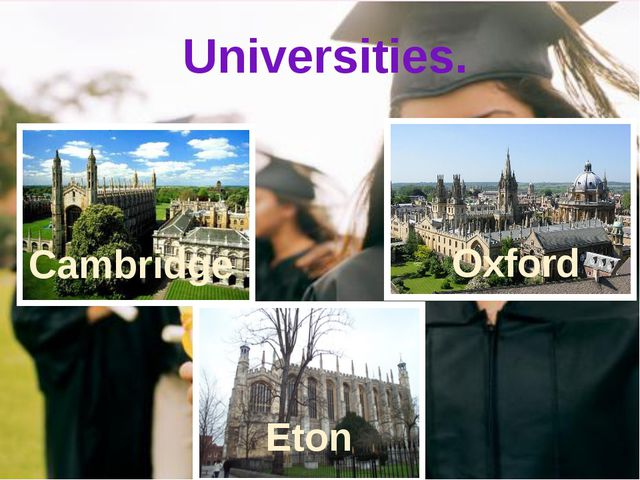 To be British you should study hard to be successful in life. Universities. C...
