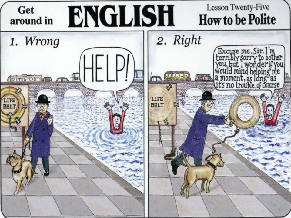To be British you need to learn the most useful words in any foreign visitor'...