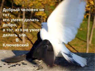 Добрый человек не тот, кто умеет делать добро, а тот, кто не умеет делать зла
