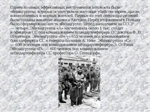 Одним изсамых эффективных инструментов холокоста были эйнзацгруппы, которые