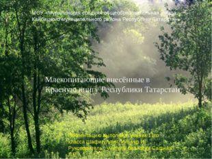 Млекопитающие внесённые в Красную книгу Республики Татарстан МОУ «Муралинска
