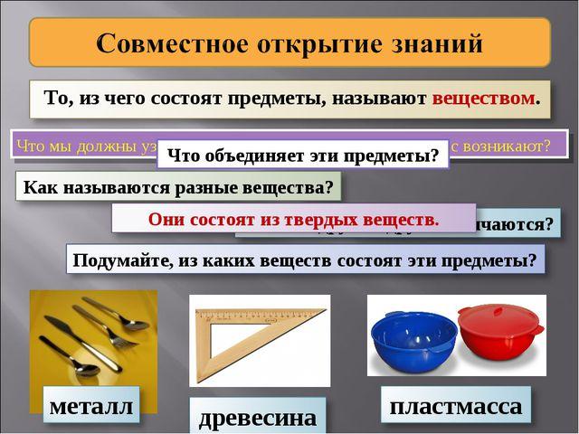 Что мы должны узнать о веществах? Какие вопросы у вас возникают? Что объединя...