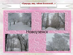 Новоузенск «Природа, мир, тайник Вселенной…»