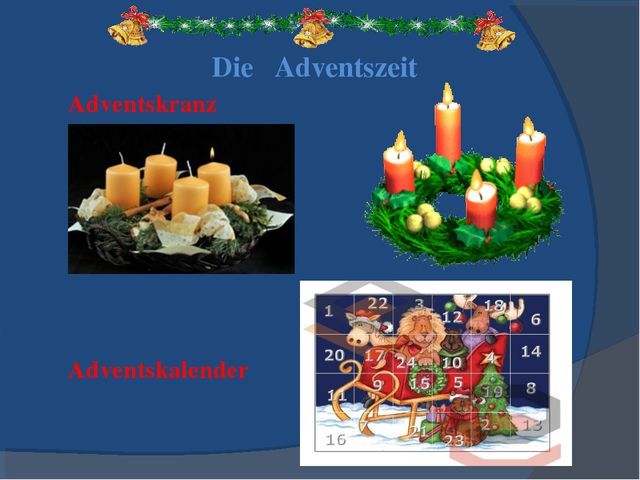 Adventskranz Adventskalender Die Adventszeit