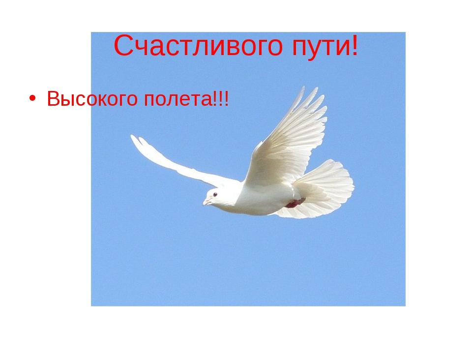 Счастливого пути! Высокого полета!!!