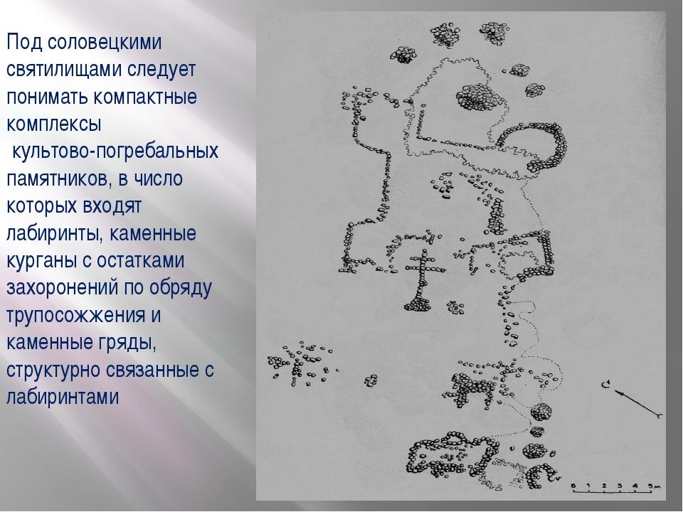 Под соловецкими святилищами следует понимать компактные комплексы культово-по...