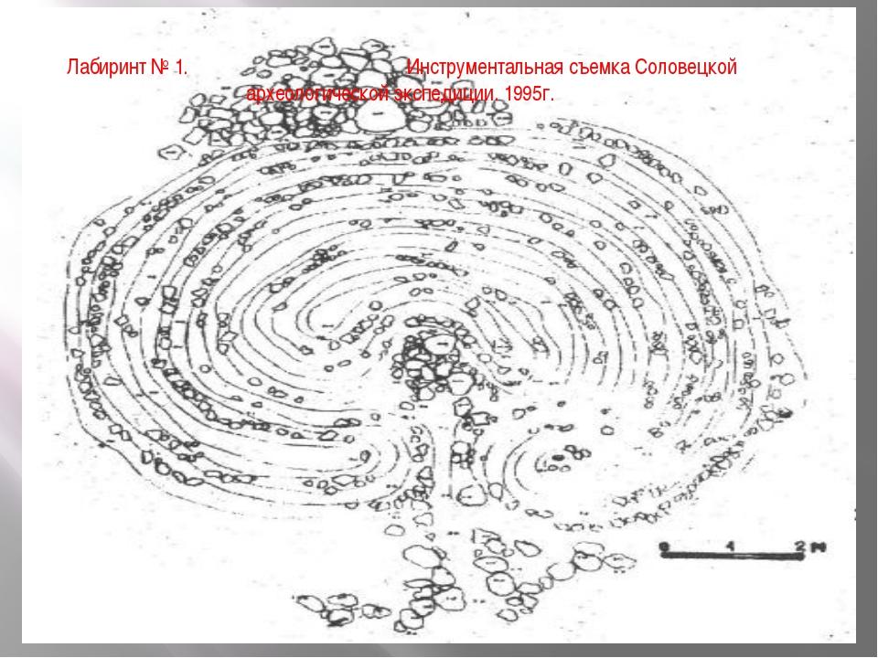 Лабиринт № 1. Инструментальная съемка Соловецкой археологической экспедиции....