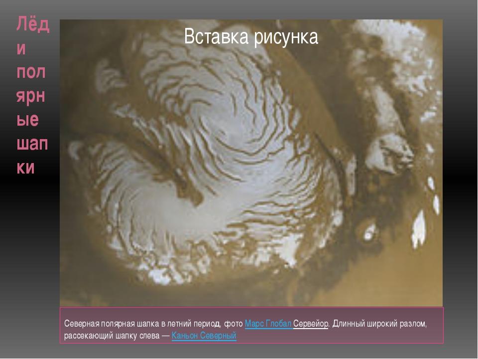 Лёд и полярные шапки Северная полярная шапка в летний период, фотоМарс Глоба...