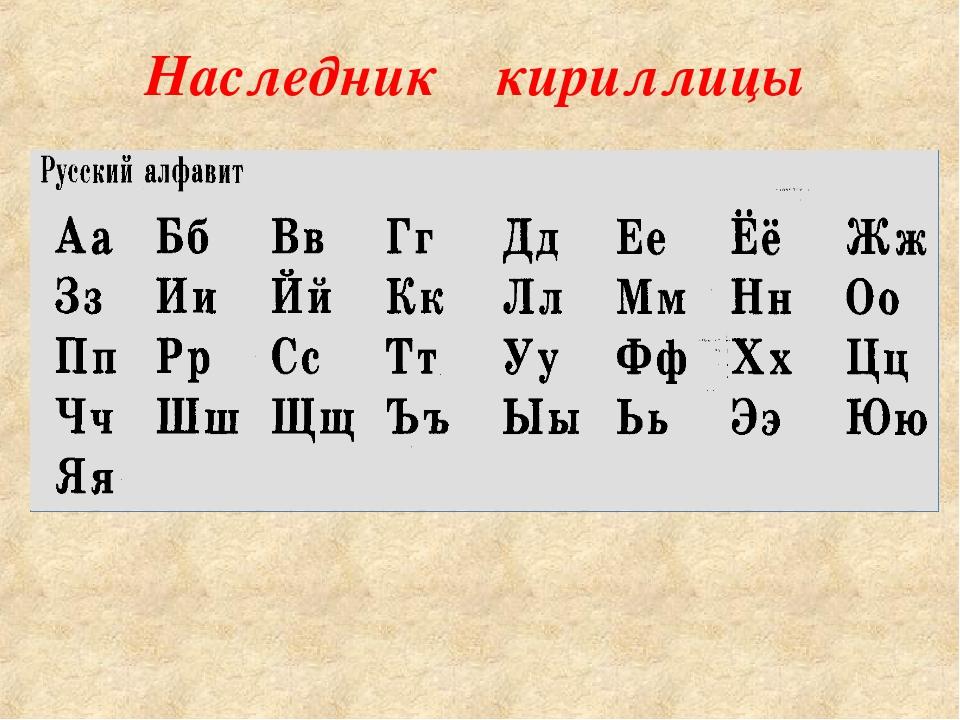 Наследник кириллицы
