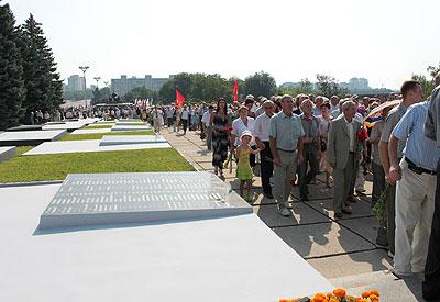 Новый Регион: В День памяти жертв приднестровского вооруженного конфликта в Тирасполе открыли обновленный мемориал