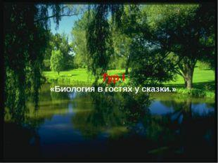 Тур I «Биология в гостях у сказки.»