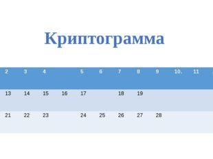 Криптограмма 1 2 3 4 5 6 7 8 9 10. 11 , 12 13 14 15 16 17 18 19 20 21 22 23 2