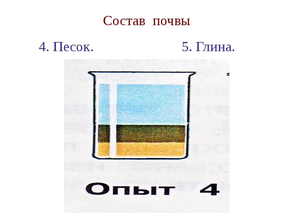 Состав почвы 4. Песок. 5. Глина.