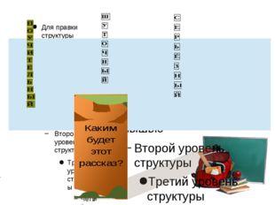 Для правки структуры щелкните мышью Второй уровень структуры Третий уровень