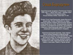 Саша Бородулин (родился в Ленинграде 8 марта 1926 года — 7 июля 1942 года) —