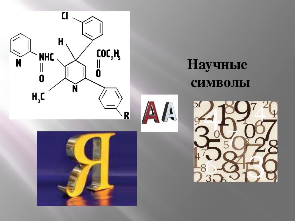Научные символы