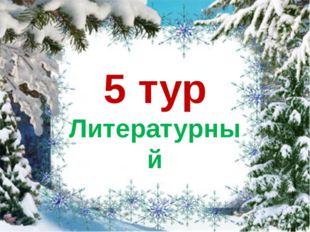5 тур Литературный
