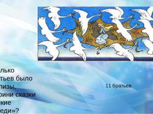 Сколько братьев было у Элизы, героини сказки «Дикие лебеди»? 11 братьев