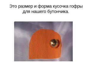Это размер и форма кусочка гофры для нашего бутончика.