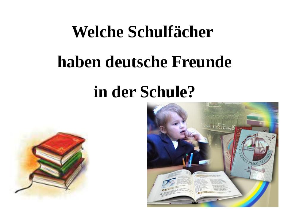 Welche Schulfächer haben deutsche Freunde in der Schule?