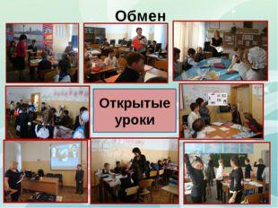 Обмен опытом Открытые уроки